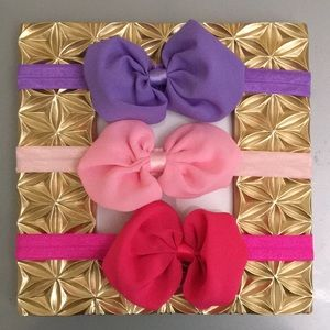 Other - (3) baby girl bow headbands